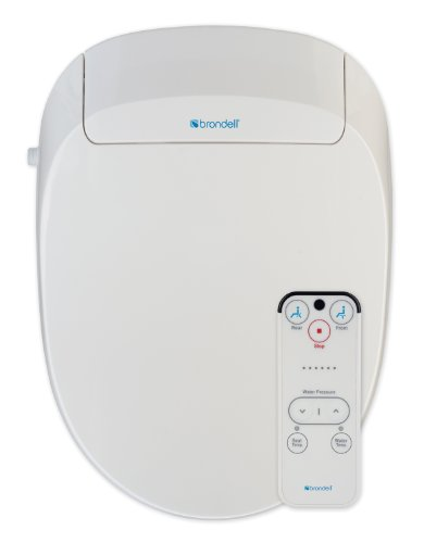 Brondell Inc. S300-RW Swash 300 Round Advanced Bidet Toilet Seat, White (Seat Advanced Bidet White Toilet)