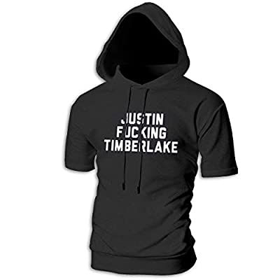 HEJON Mens Short Sleeve Hoodies Justin Fucking Timberlake Cotton Casual Sportstyle T-Shirt Tops