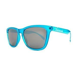 Knockaround Classics Non-Polarized Sunglasses, Aquamarine Frame/Black Lens