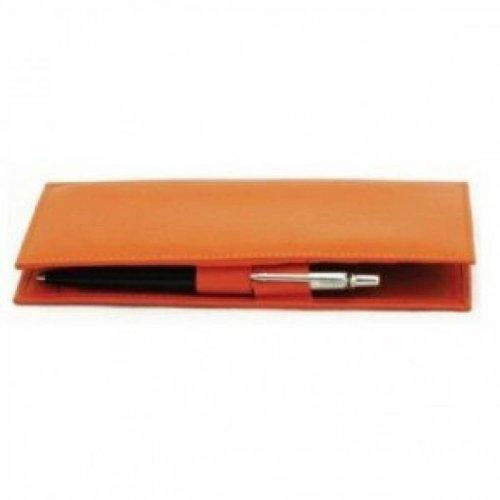 Orange ili New York 7406 Leather Checkbook Cover