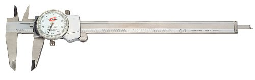 Dial Caliper Gage (Standard Gage 00524012 Dial Caliper, Stainless Steel, White Face, 0-8