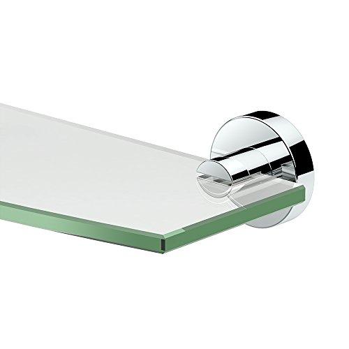 Gatco 4636 Glam Glass Shelf, 20 Inch, Chrome