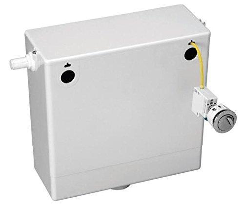 Hansvit CC107 Dual Flush Concealed Cistern, White/Chrome Glassbasins Ltd