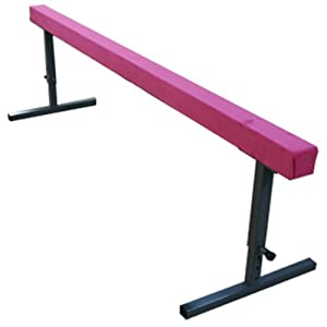 The Beam Store 30 Inch Adjustable Height 8 Feet Suede Balance Beam