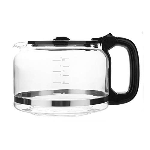 Barsetto CM1025-UL 10-Cup Replacement Glass Carafe, Black