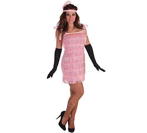LLOPIS - Disfraz Adulto charlestón Rosa: Amazon.es: Juguetes y juegos