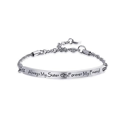 ivyAnan Sister Bracelets Inspirational Quote Bar Bracelet