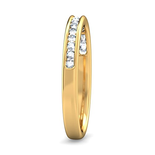 14K Or jaune, 0,22carat Diamant Blanc (IJ | SI) en diamant