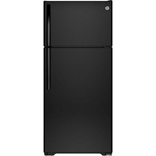 Ge Black Top Freezer Refrigerator (Ge REFRIGERATORS 1029654  15.5 Cu. ft. Top Freezer Refrigerator, Black, Reversible Door Swing)