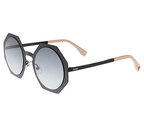 Sunglasses Fendi Ff 152/S 0003 Matte Black/JJ gray gradient lens
