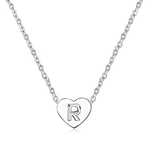 MiniJewelry R Letter Women Girls Tiny Heart Initial