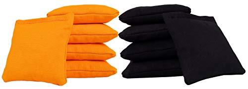 Cornhole Bags (Set of 10) Mini Size - Black/Yellow 4