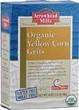 Arrowhead Mills Organic Gluten Free Yellow Corn Grits 24 Oz (Pack of 3)