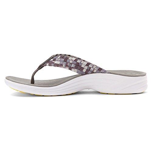 VIONIC Serene Hazel- Damenschuhe Pantolette/Zehentrenner, Grau, Absatzhöhe: 20 mm