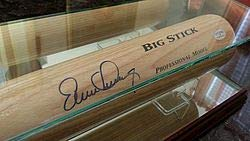 - Tampa Bay Rays Evan Longoria Autographed Signature Baseball Bat In Glass Display Case A