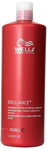 Normal Hair Conditioner - Wella Brilliance Conditioner for Fine To Normal Hair for Unisex, 33.8 Ounce