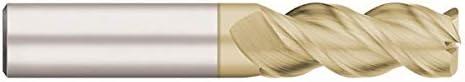 Weldon Shank Type 6.0000 OAL Single End Corner Radius Carbide End Mill 5 Flute 3.0000 LOC .0600 Radius RedLine Tools .7500 REV5278 AlCrN Coated 3//4