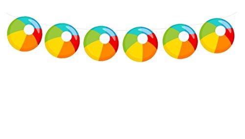 Wedding Beach Balls (Beach Ball Garland, Beach Ball Banner, Beach Ball Birthday, Summer, Beach Wedding Decorations)