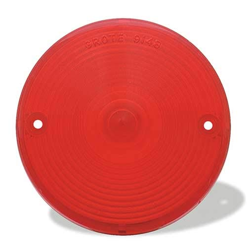 Grote Lens (Grote 91482 Red Stop Tail Turn Replacement Lenses)
