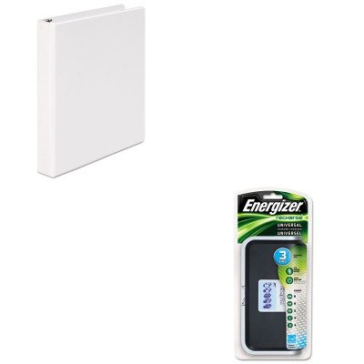 KITEVECHFCUNV20962 - Value Kit - Energizer Family Battery Charger (EVECHFC) and Universal Round Ring Economy Vinyl View Binder (UNV20962)