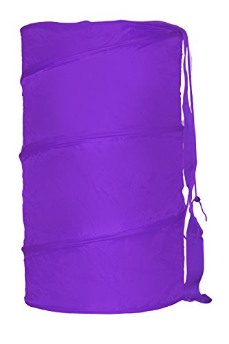- Sunbeam Nylon Collapsible Pop-Up Barrel Laundry Hamper, Storage, Space Saving Organizer, Toys, and More, Purple (1)