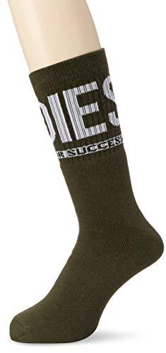 Diesel Men's SKM-RAY Socks, Olive/Black Successful Living, L