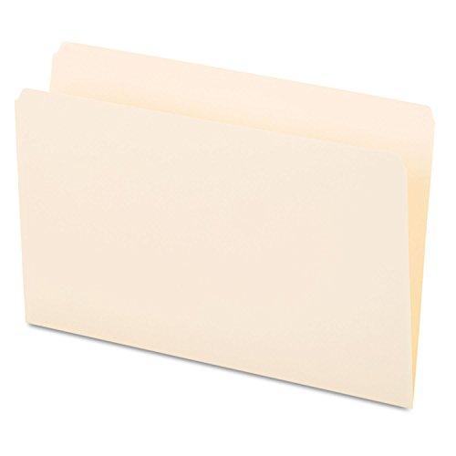 Legal 11 Pt 1 Ply - Universal 15110 File Folders, Straight Cut, One-Ply Top Tab, Legal, Manila, 100/Box