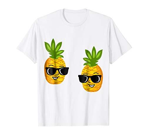 Hawaiian Funny Pineapple Faces T-Shirts   Tropical Fruit