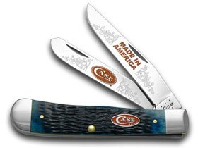 CASE XX Jigged Blau Bone Made in America 1 600 Trapper Limited Edition Pocket Knife Knives B00MP1AHIC     | Tadellos