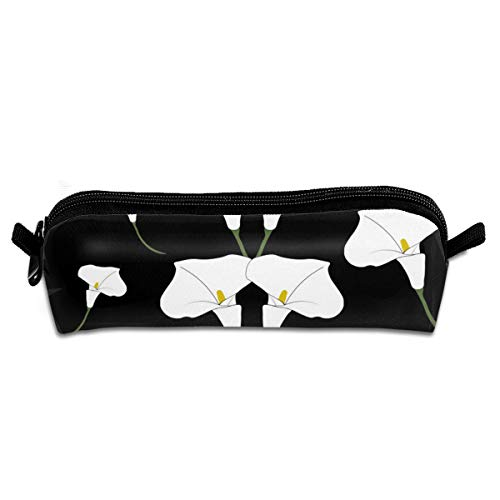Calla Lily Flower Pencil Box Cases Pen Stationery Cosmetic Makeup Bags Toiletries Power Lines Travel Storage Pouch,Big Capacity