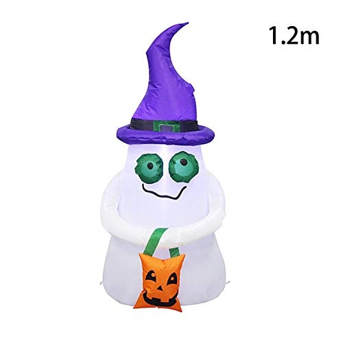 Fairy-Margot Inflatable Halloween Decorations Airblown LED Lighted Ghost Tree Pumpkins Archway Turkey Thanksgiving Spider Witch Hat for Sale,Ghost 2,110-120V