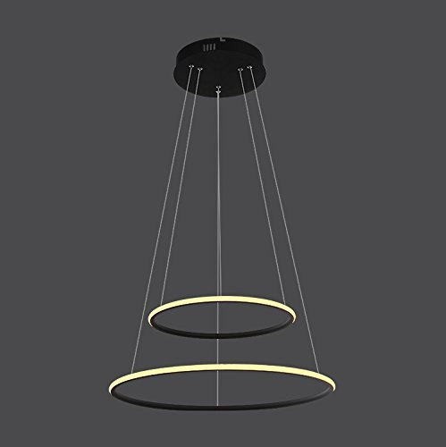 Height Adjustable Led Pendant Light Drop: Saint Mossi Modern Circular Led Chandelier Adjustable