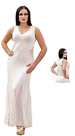 Cotton Candies White Nightgown For Women