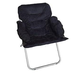 Attractive Club Chair   Plush U0026 Extra Tall   Black