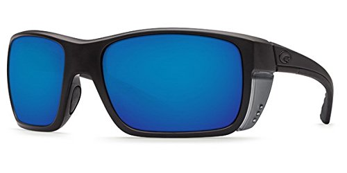 Costa Del Mar Rooster Sunglasses, Blackout, Blue Mirror 580 Glass Lens ()