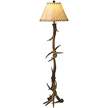 shade com dp antler lamp floor lamps amazon leather trophy faux inches tall deer torchiere ac