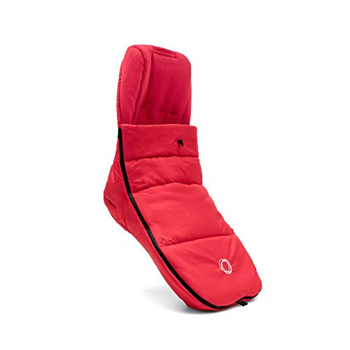 Bugaboo High Performance Footmuff, Neon Red - Down-Filled Cover to Keep Your Baby Warm and Protected During Winter Days - Universally Compatible with All Bugaboo Strollers, Neon ()
