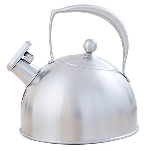 KFH Hervidor de Cocina de Inducción 304 Tetera de Acero Inoxidable Hogar Gas Hervidor 3L, Plata, a
