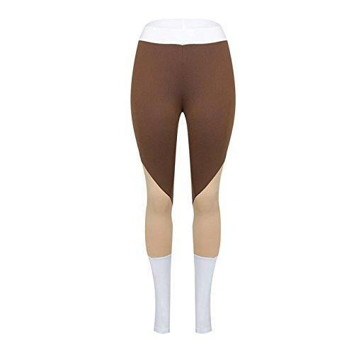 Xuanytp Yogahosen Hosen Enge Leggings Damen Taille Fitness Leggings Nähen Stretch Hosen Hosen Fitness Hohe Taille Elastische Leggings