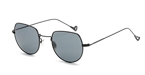 inspirées en métallique Lennon Grise Feuille du polarisées style rond A de lunettes vintage soleil retro cercle Pwfttz