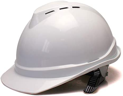 XINGZHE 建設用ヘルメット - 6点ライニングABS通気性v型ヘルメット 安全ヘルメット (Color : White)