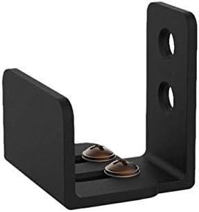 TOP 1Pcs Simple Design Wall Mounted Sliding Barn Door Bottom Floor Guide with Adjustable Bracket Black Color: Black