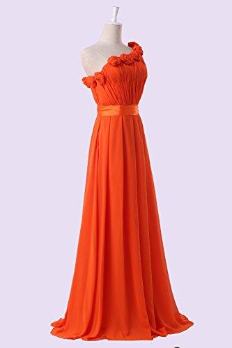Bridal_Mall - Vestido - Sin mangas - para mujer naranja 36