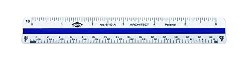 Alvin 610A 600 Series 6 inch High Impact Plastic Architect Triangular Scale