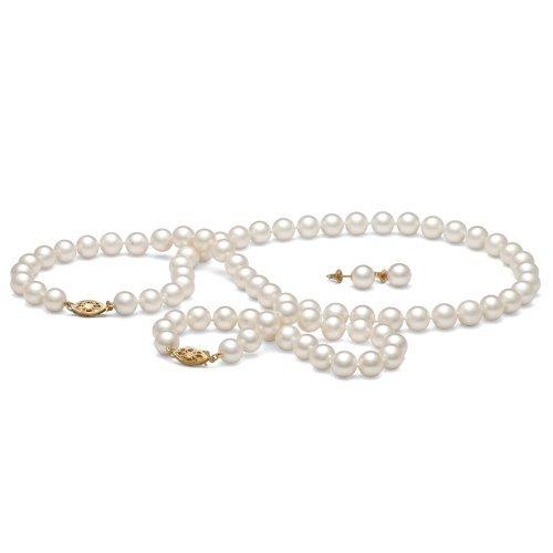 """Pearl Paradise Femmes de perle de collier, 16"""""""