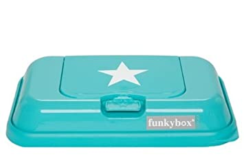 Funky Box Togo Easy Wipe Travel Dispenser Box Turquoise StarNEW by Funky box
