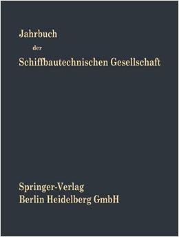 Jahrbuch der Schiffbautechnischen Gesellschaft (German Edition)