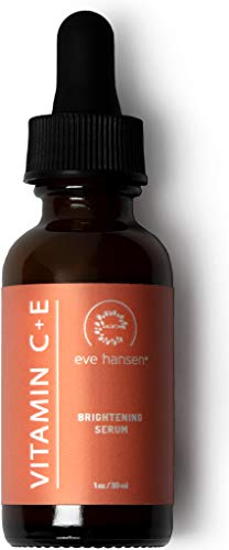 Sun Body Serum - Natural Vitamin C Serum for Face - Hyaluronic Acid, Vitamin E Skin Brightening Serum, Dark Spot Remover and Anti Wrinkle Serum - Reduce Age Spots and Sun Damage - 1 oz Facial Serum by Eve Hansen
