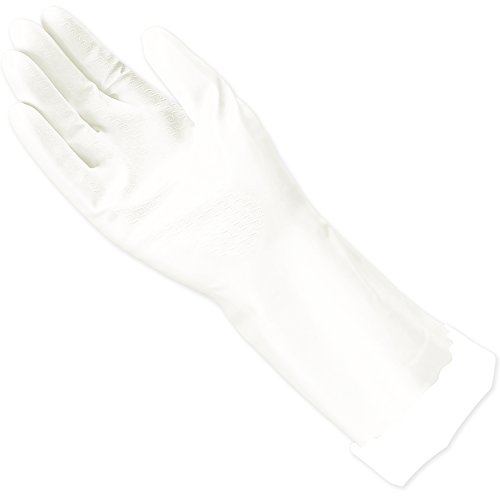 Gloves Cotton Rubber Lined - Mr. Clean, 243032 Bliss, Small Latex Free, Vinyl, Soft Ultra Absorbent Lining, Non- Slip Swirl Grip Gloves, (S)