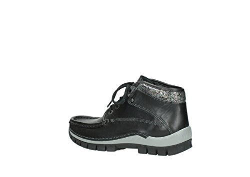 Sneaker donna Leather metallic 205 Wolky Black YqBRPR